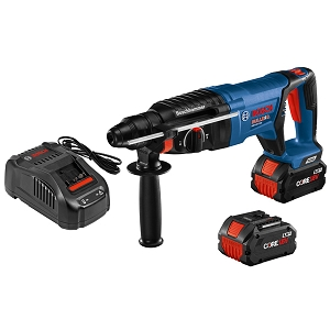 Bosch GBH18V-26DK24 18V EC Brushless SDS-plus® Bulldog™ 1 In. Rotary Hammer Kit with (2) CORE18V 8.0 Ah Performance Batteries