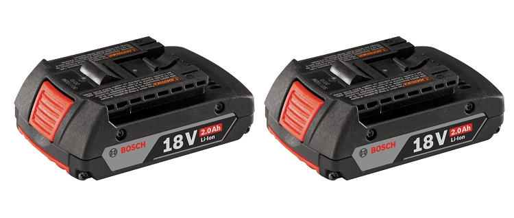 Bosch BAT612-2PK 18V Lithium-Ion SlimPack Battery (2.0 Ah) - 2-Pack