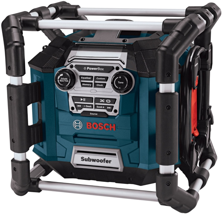 Bosch PB360D-C Power Box 360 Deluxe Jobsite AM/FM Stereo with 360 Degree Sound and Digital Media Bay