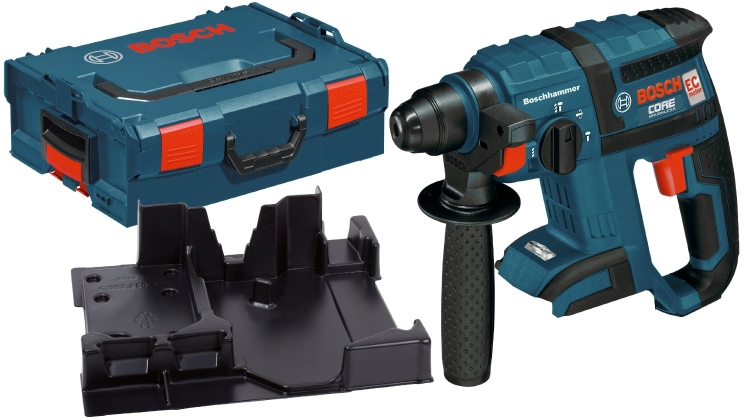 Bosch RHH181BL 18 V 3/4 In  SDS-plus® Core Rotary Hammer Kit w/ Chisel  Function Bare Tool w L-BOXX 2