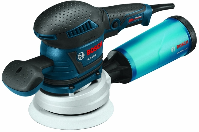 Bosch ROS65VC-5 120 V 5 In. Rear Handle Random Orbit Sander
