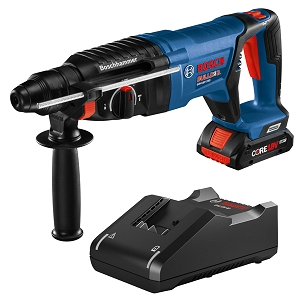Bosch GBH18V-26DK15 18V EC Brushless SDS-plus® Bulldog™ 1 In. Rotary Hammer Kit with (1) CORE18V 4.0 Ah Compact Battery