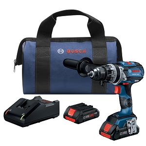 Bosch GSB18V-755CB25 18V EC Brushless Connected-Ready Brute Tough 1/2 In. Hammer Drill/Driver Kit with (2) CORE18V Batteries