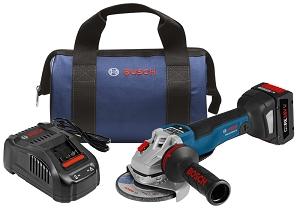 Bosch GWS18V-45PSCB14 18V EC Brushless Connected 4-1/2 In. Angle Grinder Kit with No Lock-On Paddle Switch