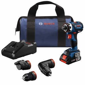 Bosch GSR18V-535FCB15 18V EC Brushless Connected-Ready Flexiclick® 5-In-1 Drill/Driver System with (1) CORE18V 4.0 Ah Compact Battery