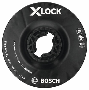 Bosch MGX0450 4-1/2 In. X-LOCK Backing Pad with X-LOCK Clip - Medium Hardness