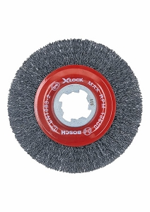 Bosch WBX418 4-1/2 In. Wheel Dia. X-LOCK Arbor Tempered Steel Crimped Wire Wheel