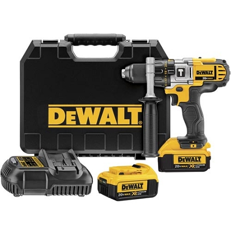 Dewalt DCD985M2 20V MAX Lithium Ion Premium 3-Speed Hammerdrill Kit (4.0 Ah)