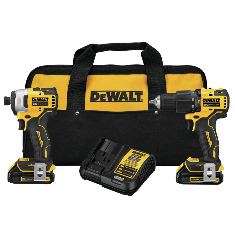 Dewalt DCK279C2 ATOMIC 20V MAX Brushless Cordless 1/2 in. Hammer Drill/Driver and 1/4 in. Impact Driver KIT