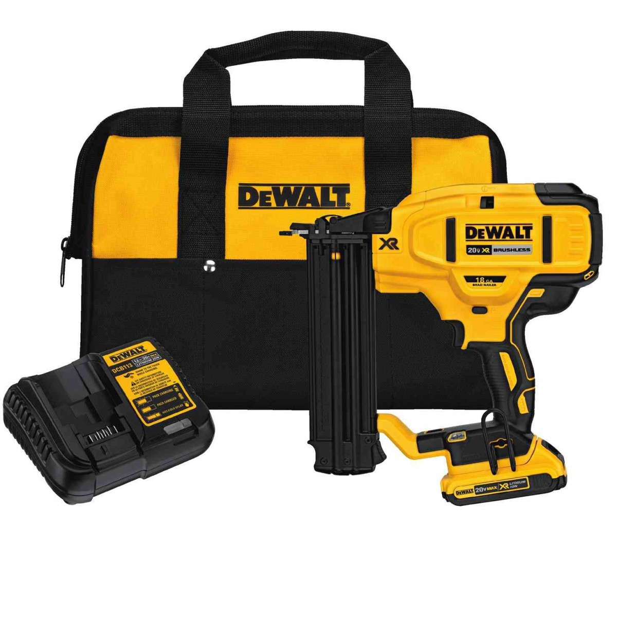 Dewalt dcn680d1 20v max xr 18 ga brushless brad nailer kit for Dewalt 20v brushless motor