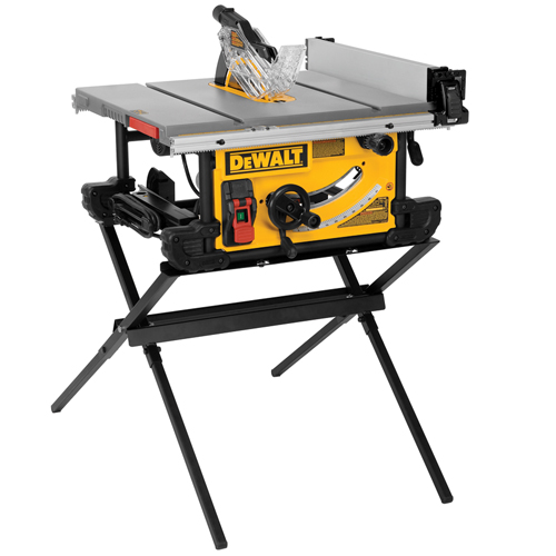 Dewalt dwe7490x 10 job site table saw with scissor stand for 10 table saw motor
