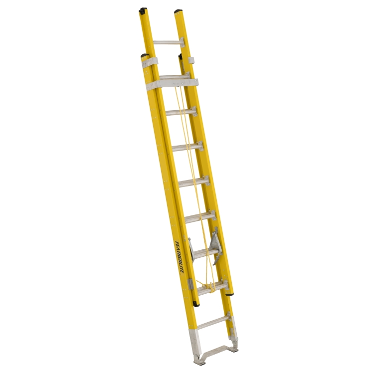 16 ft Featherlite 6216D Fiberglass Extension Ladder, Type IAA, 375 lb Load Capacity