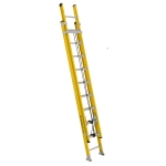 20 ft Featherlite 5720D Fiberglass Extension Ladder, Type IAA, 375 lb Load Capacity