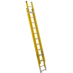22 ft Featherlite 6222D Fiberglass Extension Ladder, Type IAA, 375 lb Load Capacity