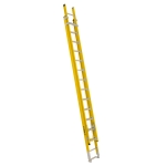 28 ft Featherlite 6228D Fiberglass Extension Ladder, Type IAA, 375 lb Load Capacity