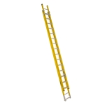 32 ft Featherlite 6232D Fiberglass Extension Ladder, Type IAA, 375 lb Load Capacity