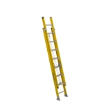 16 ft Featherlite 9216D Fiberglass Extension Ladder, Type IAA, 375 lb Load Capacity