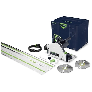 Festool 576688 Plunge Cut Track Saw TS 55 REQ-F-Plus-FS USA Emerald Edition