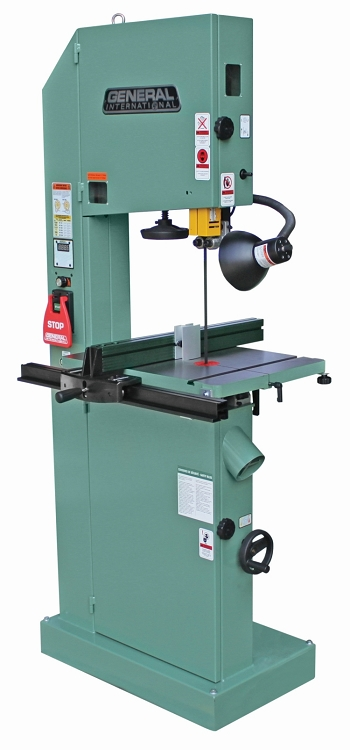General International 90-320M1 17 in. Wood / Metal Bandsaw Electronic Variable Speed