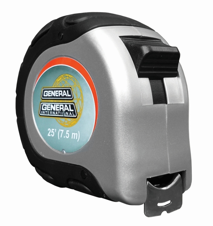 General International 99-500 25Ft / 7,5M X 1 in. / 25MM Tape Measure