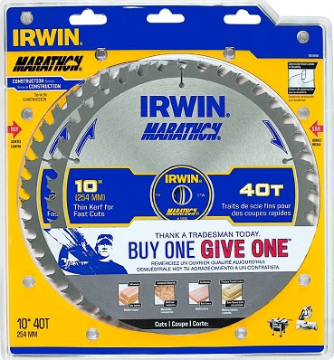 Irwin 1839698 Saw Blade Marathon 10 in. X 40T