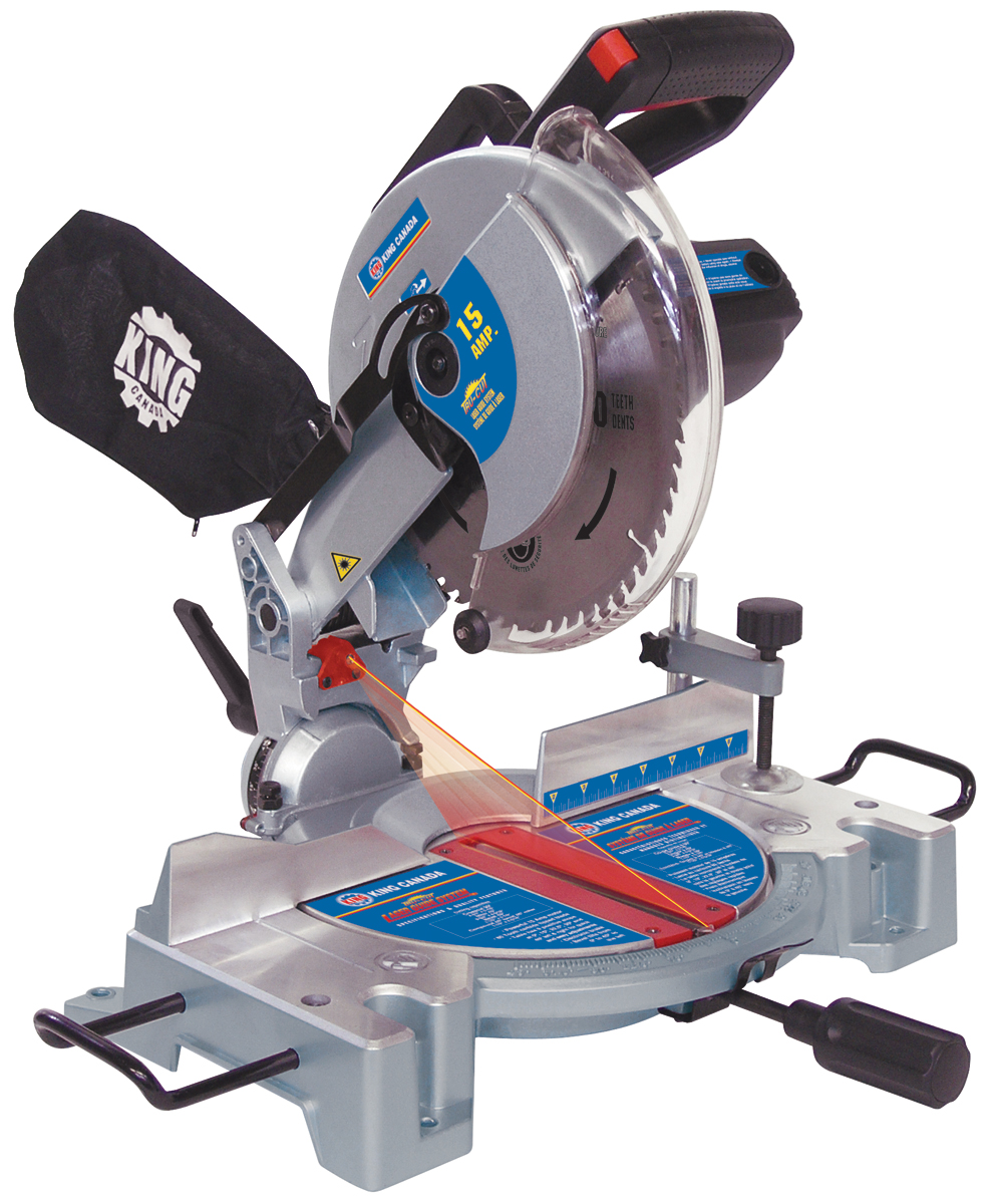 King Canada 8324N Saw, Miter, 10, Compound w/Laser