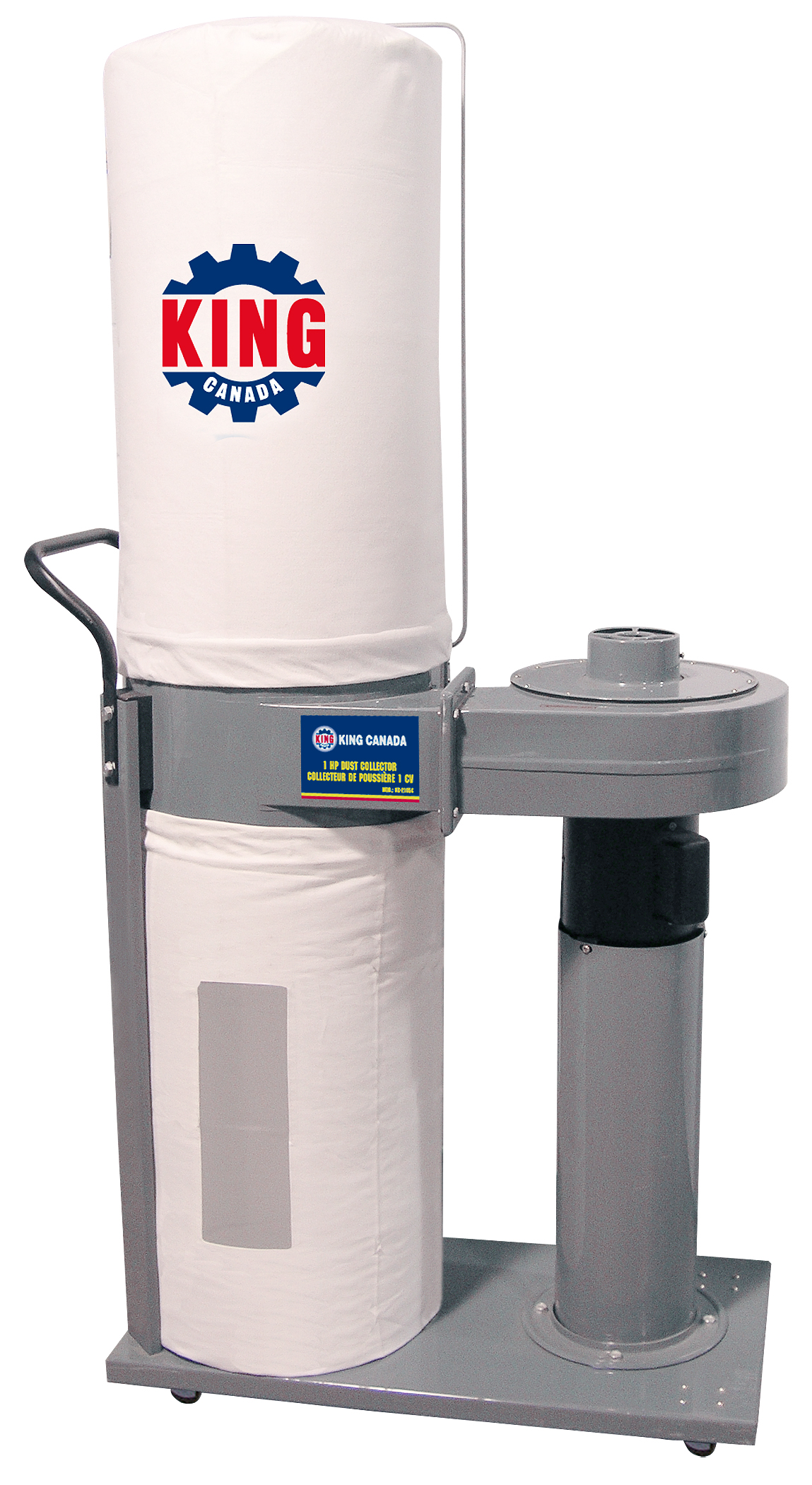 King Canada KC-2105C Dust Collector, 1 HP, 110V, 600CFM