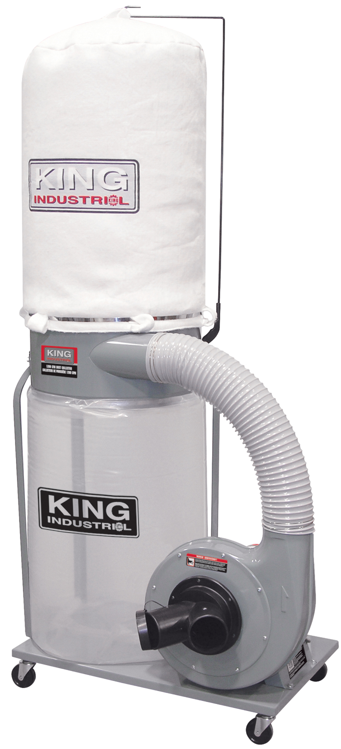 King Industrial KC-3105C Dust Collector, 110/220V, 1200CFM