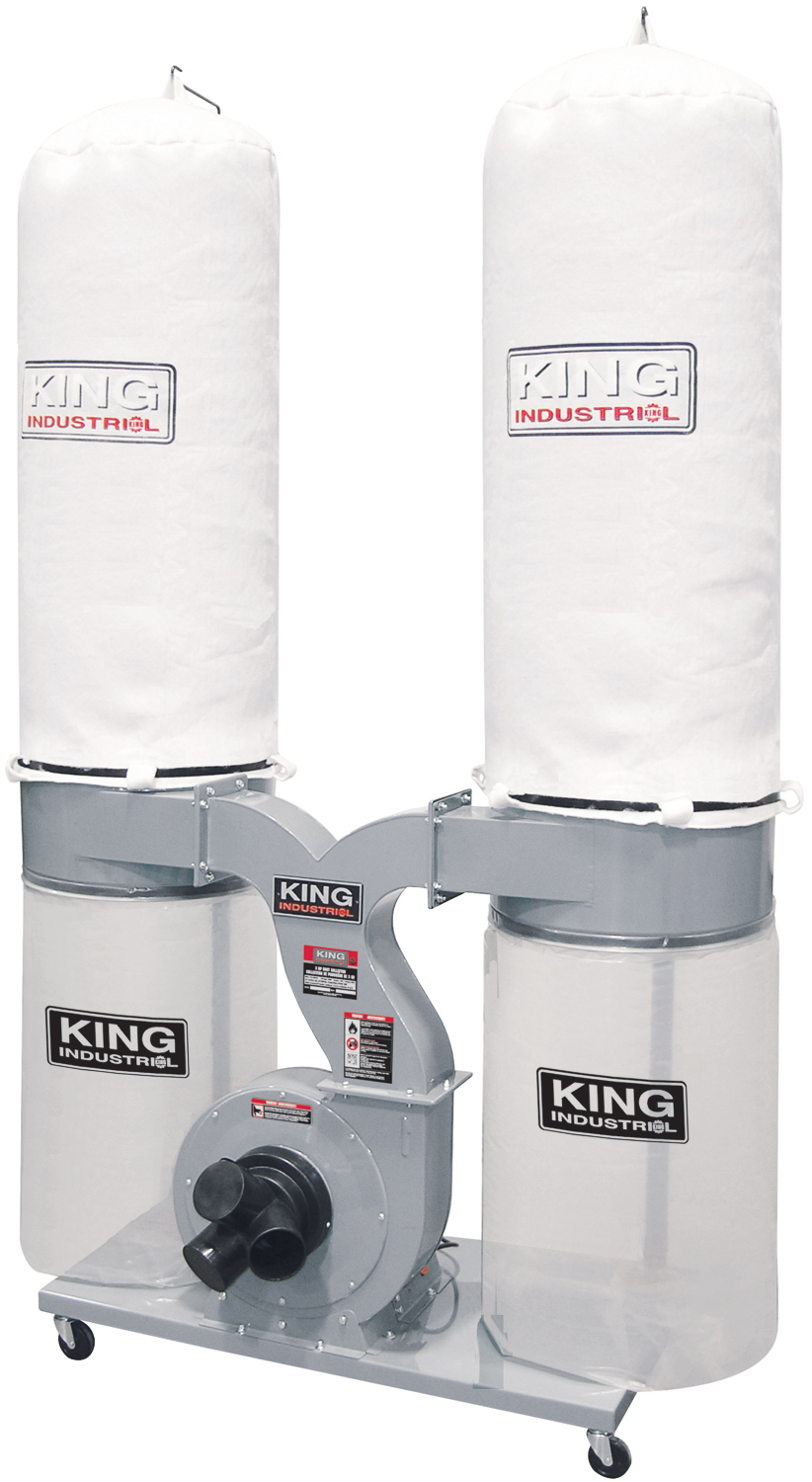 King Industrial KC-4045C Dust Collector, 3 HP, 220V, 2280CFM