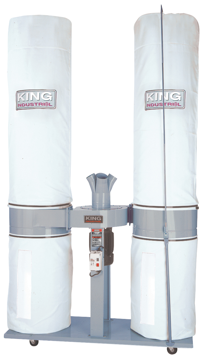 King Industrial KC-5043FX-2 Dust Collector, 5 HP, 220V, 1ph, 3980CFM