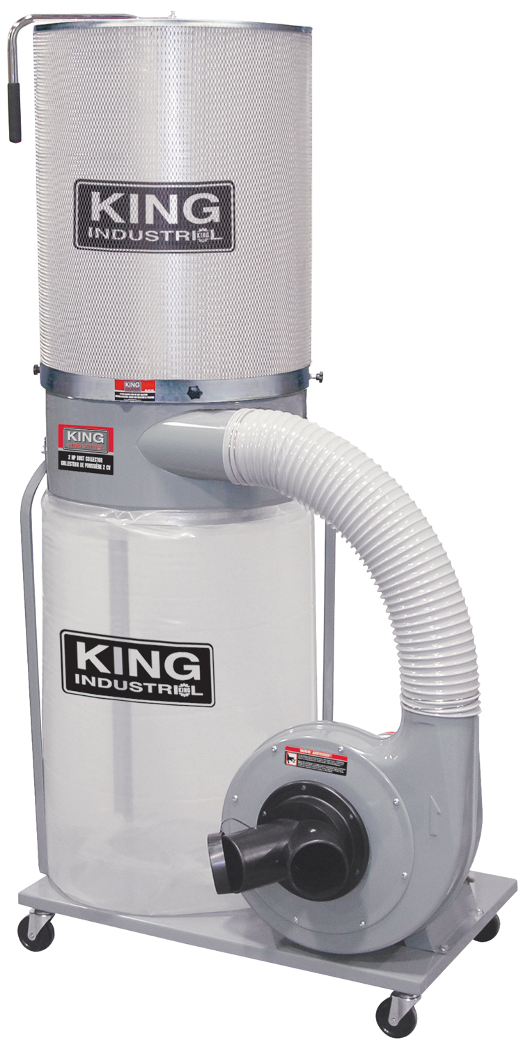 King Industrial KC-3109C/KDCF-3500 Dust Collector, 2 HP, 220V, 1200CFM w/Canister Filter