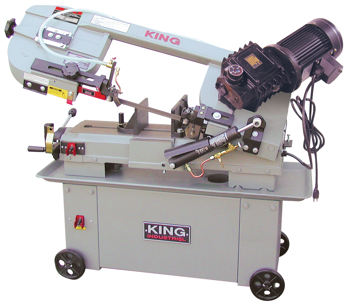 King Industrial KC-712GH-5 Bandsaw, Metal, 7 x 12 Gear Drive