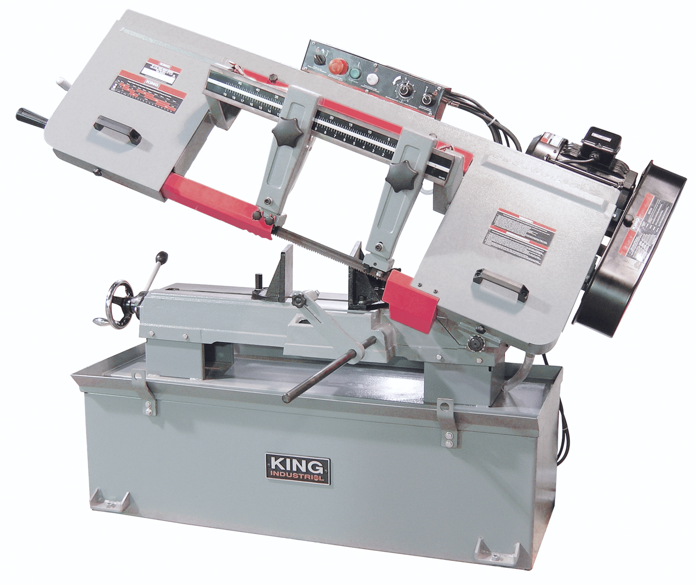 King Industrial KC-227-6 Bandsaw, Metal, 10 x 18, 600V