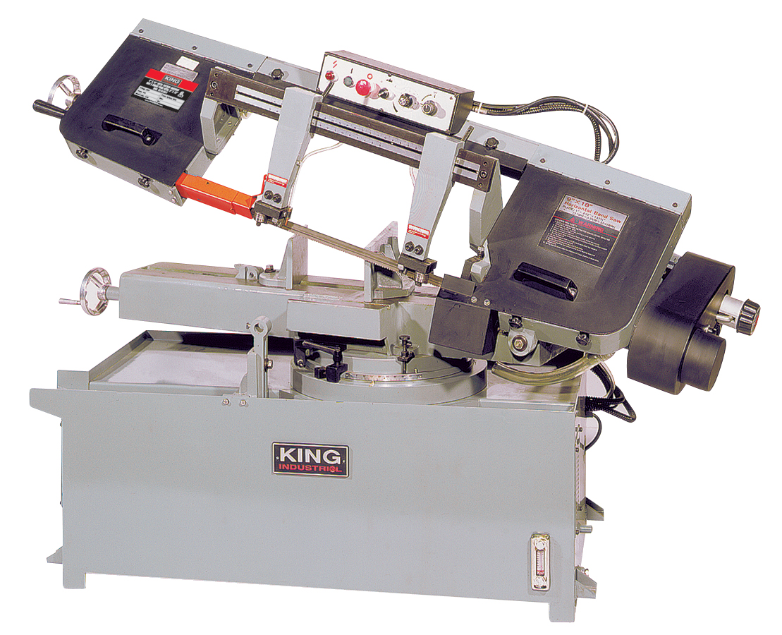 King Industrial KC-918S-V Bandsaw, Metal, 9 x 18, Swivel, 220V