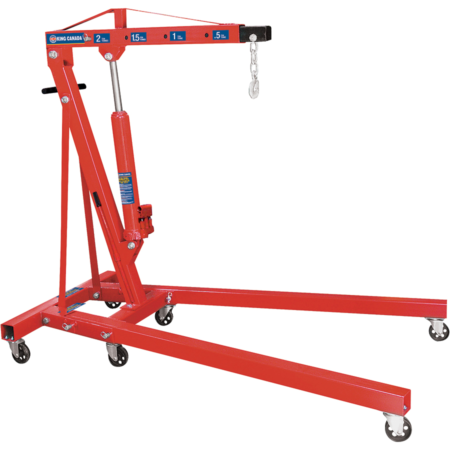 King Canada KFC-2TC Folding Shop Crane, Hydraulic, 2 Ton