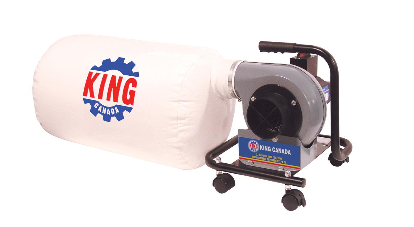 King Canada KC-1101C Mini Dust Collector, 3/4 HP, 110V, 590CFM