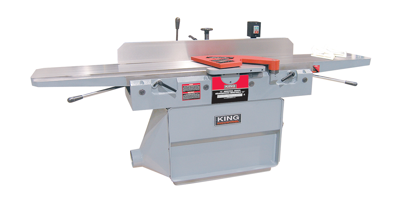 King Industrial KC-125FX Jointer, 12 Spiral Cutterhead, 18amp, 220V