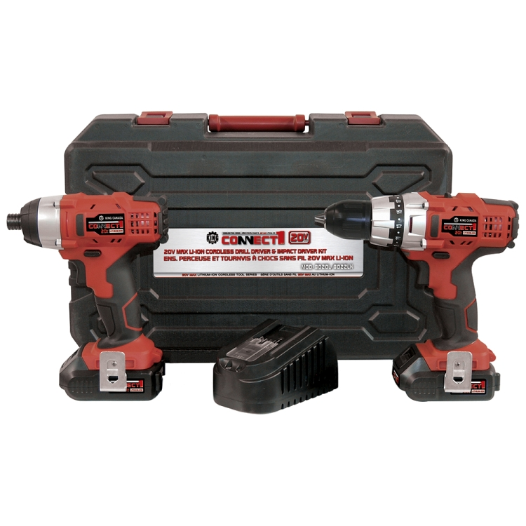Performance Plus 8020L/8022LK Combo Kit, Drill & Impact Driver, Cordless, 20V Max Li-ion