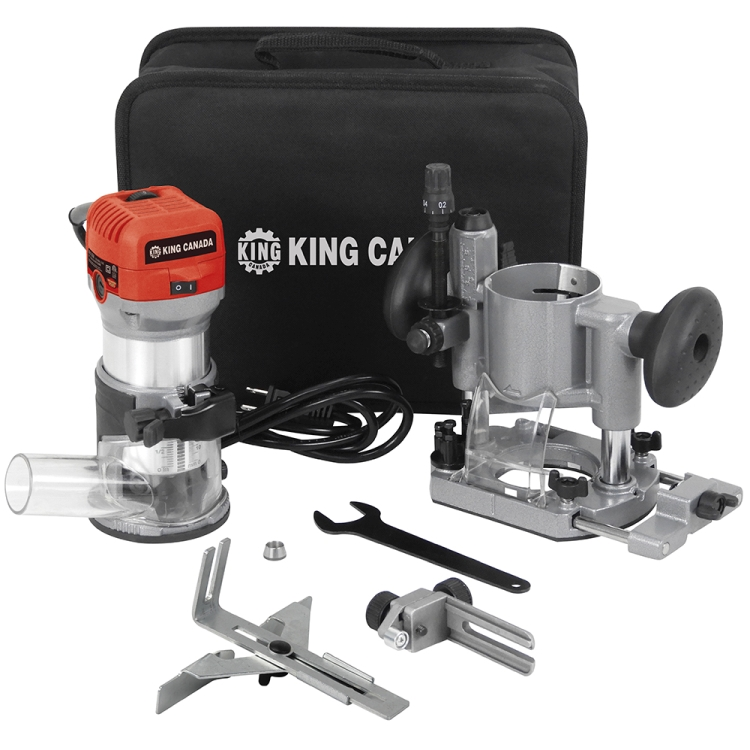 King Canada 8366K 1-1/4HP Variable Speed Router Combo Kit