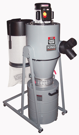 King Industrial Kc 6150c 1 5 Hp Cyclone Dust Collector