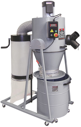 King Industrial Kc 6200c 2 Hp Cyclone Dust Collector