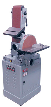 King Industrial Kc 788fx 6 Quot X 48 Quot Belt Amp 12 Quot Disc Sander