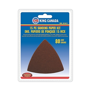 Performance Plus KW-4811 Sanding Paper kit, 80 Grit, 15 pcs.