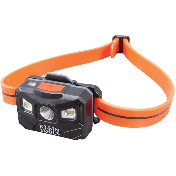 Klein 56034 Rechargeable Headlamp with Strap, 200 Lumen All-Day Runtime, Auto-Off