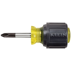 Klein 603-1 Stubby Screwdriver, #2 Phillips, 1-1/2-Inch Shank