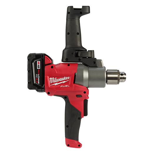 Milwaukee 2810 22 M18 Fuel Mud Mixer With 180 176 Handle Kit