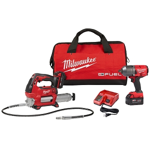 Milwaukee 2767-22GG M18 FUEL HTIW with Grease Gun Kit