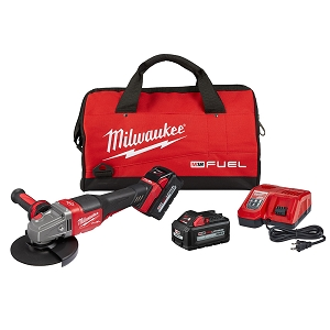 Milwaukee 2980-22 M18 FUEL 4-1/2 in.-6 in. No Lock Braking Grinder with Paddle Switch 2 Battery Kit