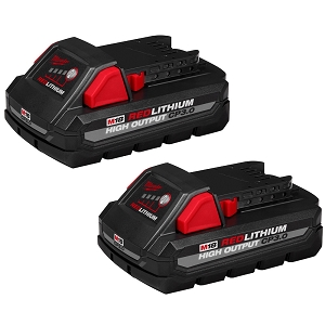 Milwaukee 48-11-1837 M18 REDLITHIUM HIGH OUTPUT CP3.0 Battery 2 Pack