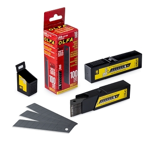 Olfa LBB/CP100 18Mm Black Ultra-Sharp Snap-Off Blades, 5-Pack (#Lbb/Cp100)